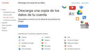 Descarga contenido Google+