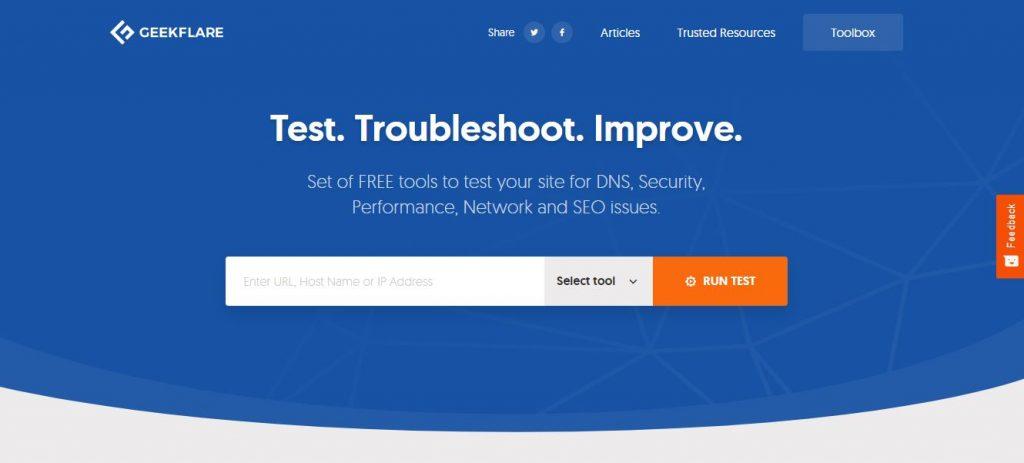 Herramienta gratis para test de velocidad web greenflare