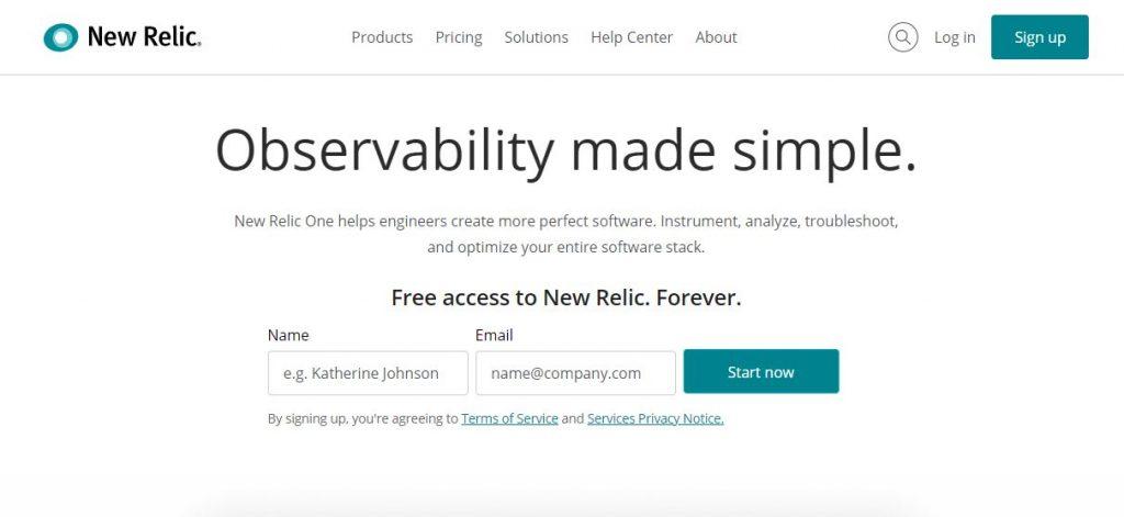 Herramienta gratis para test de velocidad web newrelic