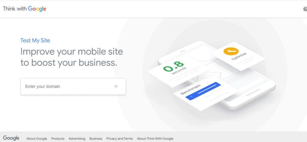 Herramienta gratis para test de velocidad web think with googleJPG
