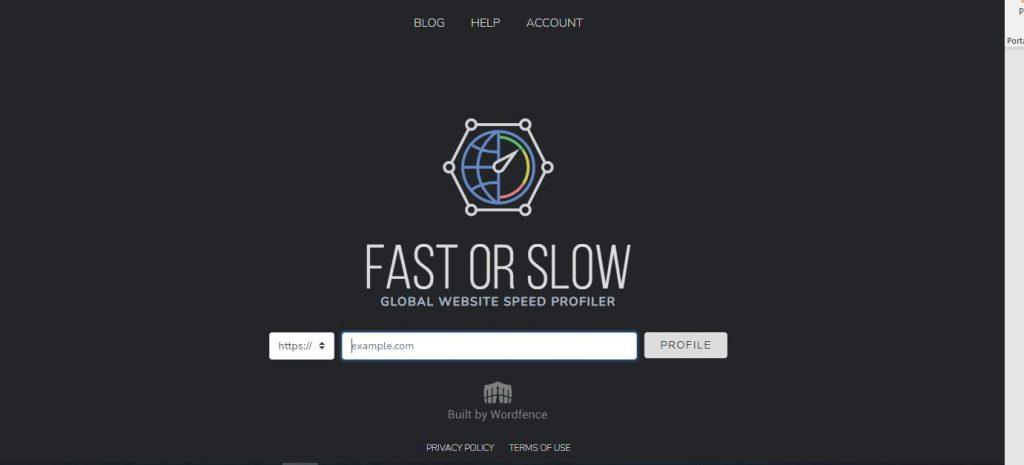 Herramienta gratis para test de velocidad webFast or slow
