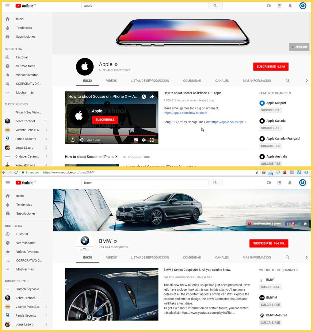 diseño cuenta de youtube